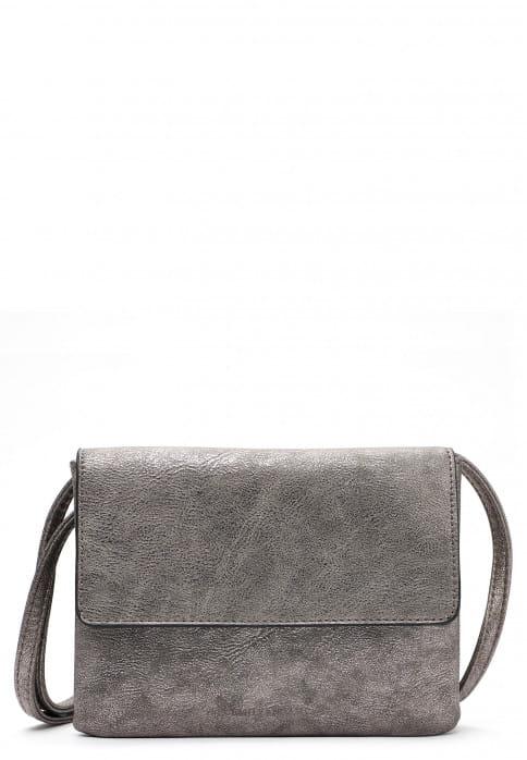 EMILY & NOAH Handtasche mit Überschlag Emma mittel Silber 61722833 darksilver 833