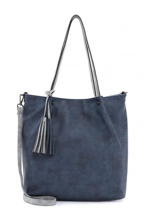 EMILY & NOAH Shopper Bag in Bag Surprise groß Blau 331508 blue grey 508