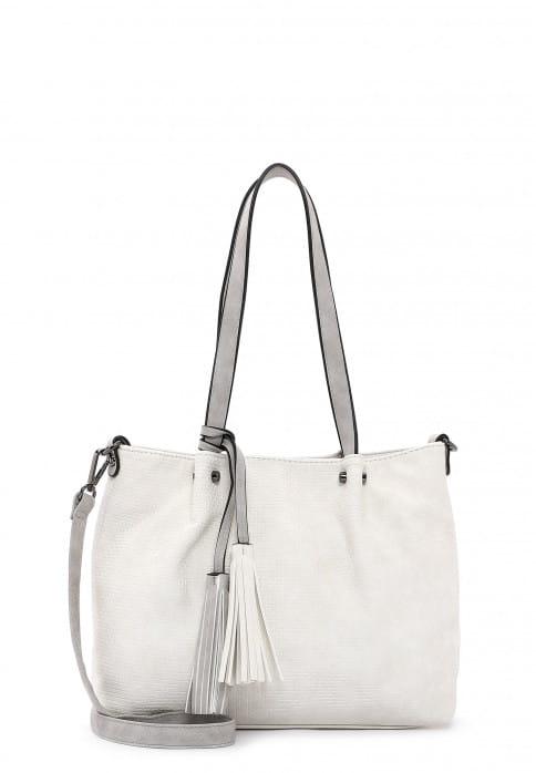 EMILY & NOAH Shopper Bag in Bag Surprise klein Beige 330328 ecru lightgrey 328