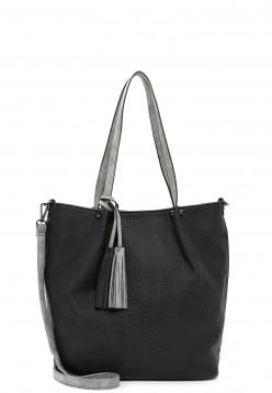 EMILY & NOAH Shopper Bag in Bag Surprise groß Schwarz 331108 black grey 108