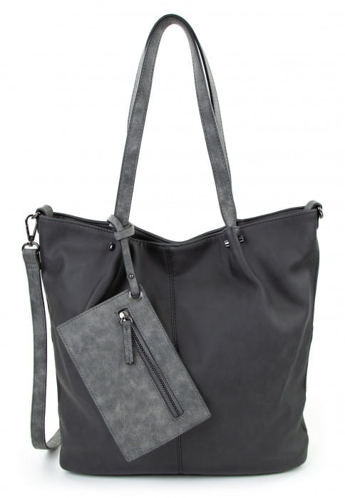 EMILY & NOAH Shopper Bag in Bag Surprise Schwarz 300108D-1790 black grey 108