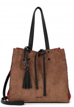 EMILY & NOAH Shopper Denise mittel Beige 62624906 taupe/red 906