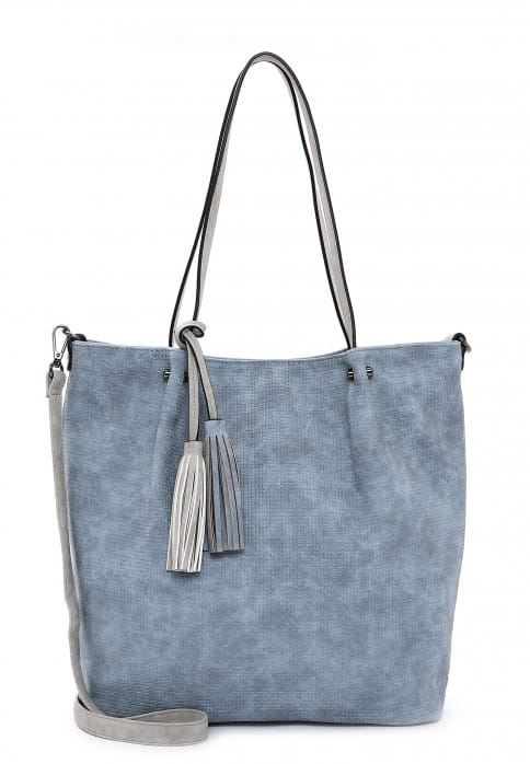 EMILY & NOAH Shopper Bag in Bag Surprise groß Blau 331538 sky grey 538