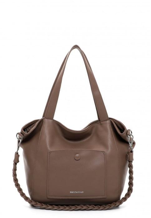 EMILY & NOAH Shopper Fiorella groß Braun 62945900 taupe 900
