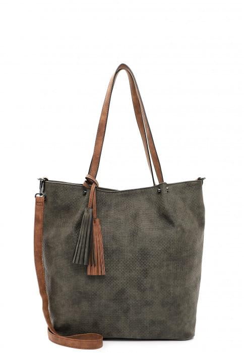 EMILY & NOAH Shopper Bag in Bag Surprise groß Grün 331964 forest/cognac 964