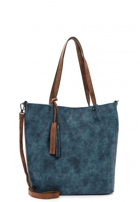EMILY & NOAH Shopper Bag in Bag Surprise groß Blau 331527 petrol/cognac 527