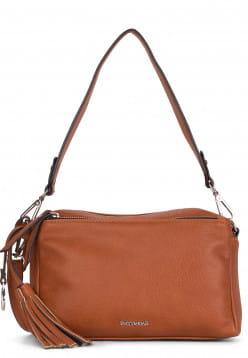 EMILY & NOAH Handtasche mit Reißverschluss Leonie mittel Braun 62081700 cognac 700