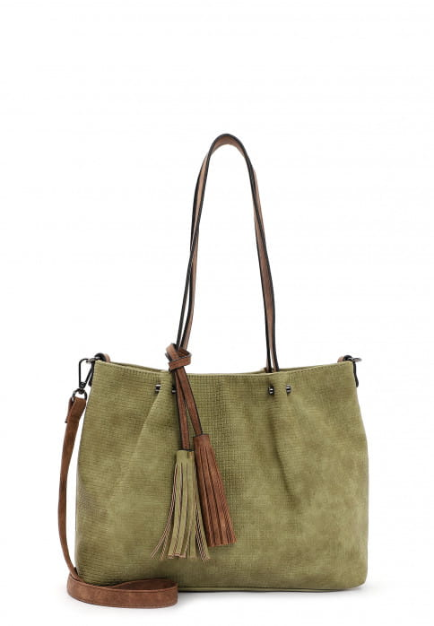 EMILY & NOAH Shopper Bag in Bag Surprise klein Grün 330967 khaki cognac 967