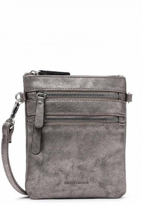 EMILY & NOAH Handtasche mit Reißverschluss Emma Silber 60392833 darksilver 833