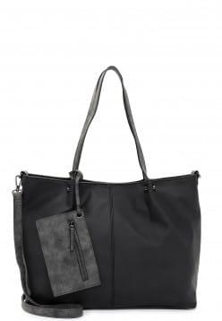 EMILY & NOAH Shopper Bag in Bag Surprise Schwarz 301108D-1790 black grey 108D