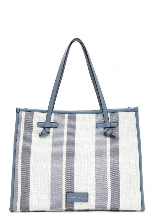 EMILY & NOAH Shopper Esther groß Blau 62751591 blue stripes 591