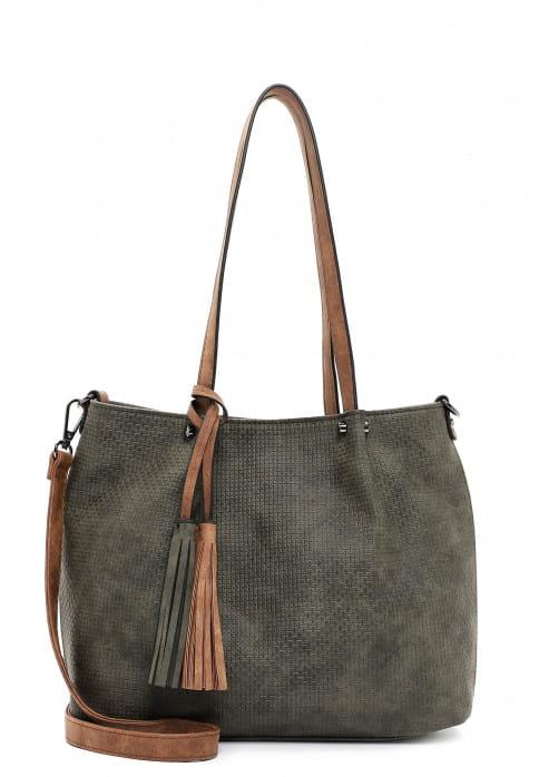 EMILY & NOAH Shopper Bag in Bag Surprise klein Grün 330964 forest/cognac 964