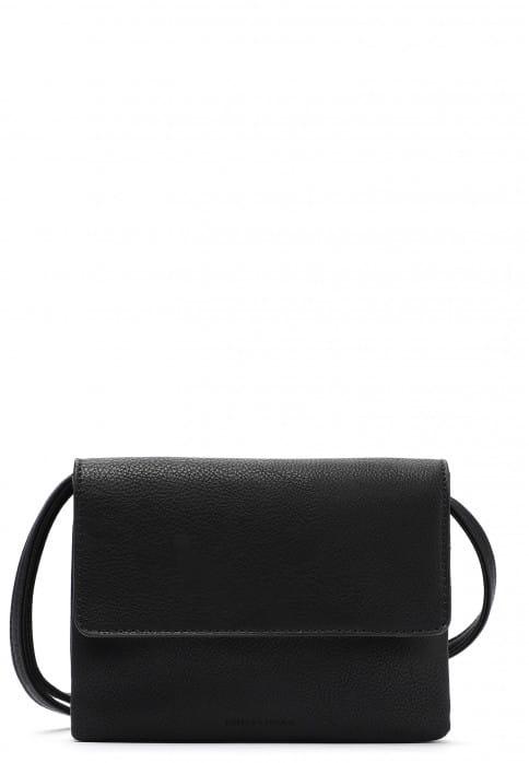 EMILY & NOAH Handtasche mit Überschlag Emma mittel Schwarz 61722100 black 100