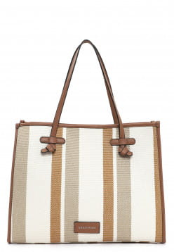 EMILY & NOAH Shopper Esther groß Braun 62751798 cognac-stripes 798