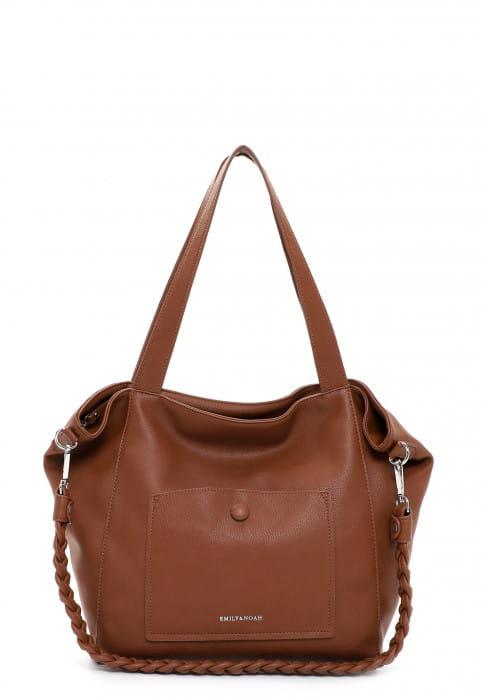 EMILY & NOAH Shopper Fiorella groß Braun 62945700 cognac 700