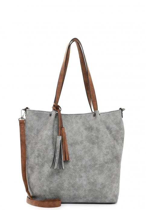 EMILY & NOAH Shopper Bag in Bag Surprise groß Grau 331807 grey/cognac 807