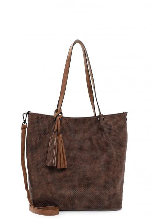 EMILY & NOAH Shopper Bag in Bag Surprise groß Braun 331207 brown/cognac 207