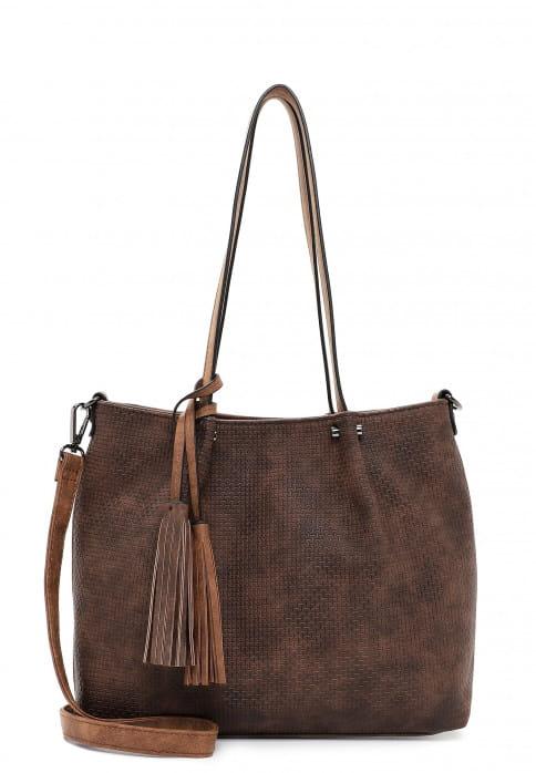 EMILY & NOAH Shopper Bag in Bag Surprise klein Braun 330207 brown/cognac 207